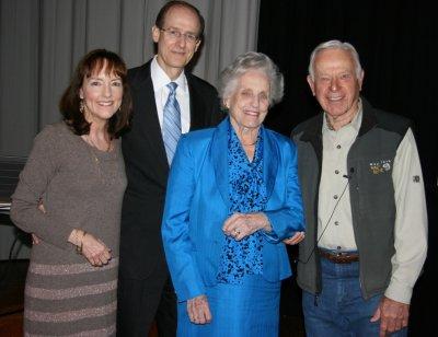 Cynthia Blackburn, Bobby Blackburn, Sadie Gwin Blackburn and David Bamberger, 2012 seminar speaker and founder of the Bamberger Ranch Preserve, Selah